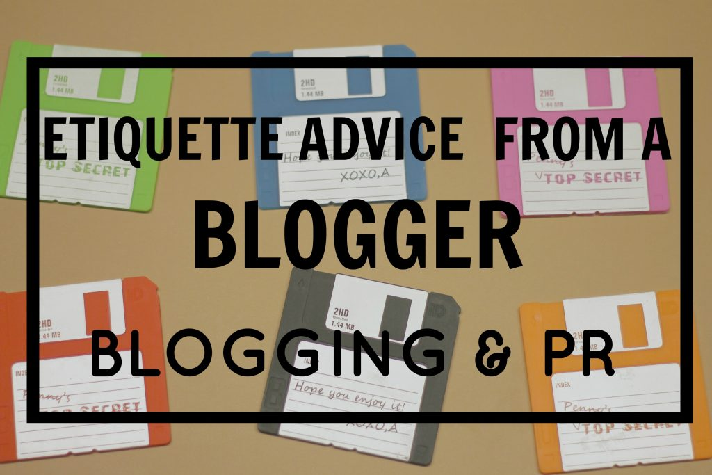 etiquette advice from blogger