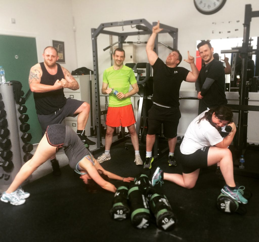 The Bronco Mudders Make Sure They Leave Enough Energy To Strike A Pose Post Workout